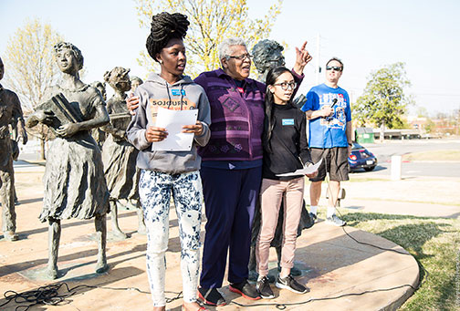 Sojourners travel alongside Minnijean Brown-Trickey, member of the Little Rock Nine, Civil Rights Activist, Environmentalist, Peacemaker.